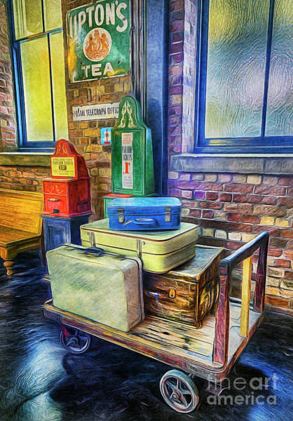 Platform Painting - Vintage Luggage by Ian Mitchell