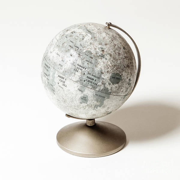 Photograph - vintage Lunar Globe by Edward Fielding