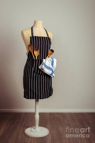 Apron Wall Art - Photograph - Vintage Mannequin With Kitchen Utensils by Amanda Elwell