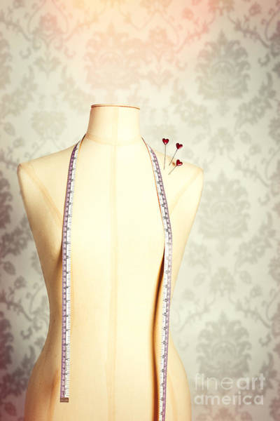 Dress Form Photograph - Vintage Mannequin With Tape Measure by Amanda Elwell