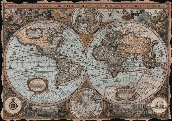 Wall Art - Digital Art - Vintage Map by MGL Meiklejohn Graphics Licensing