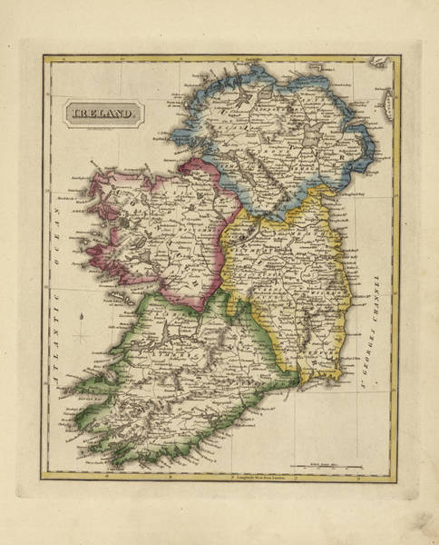 Ancient Map Of Ireland.Ancient Ireland Paintings Fine Art America