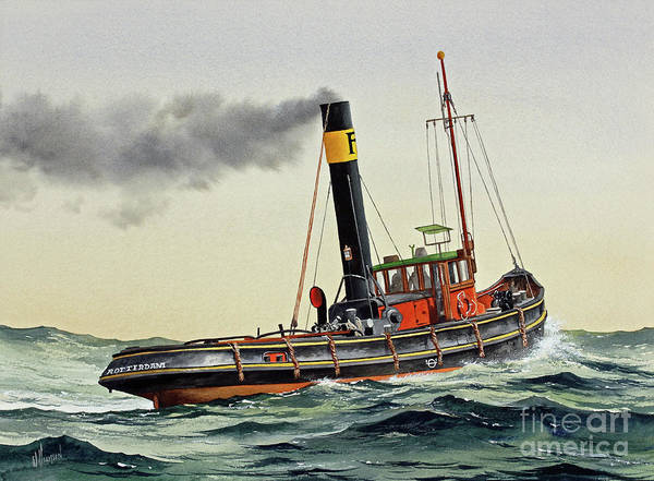 Wall Art - Painting - Vintage Maritime Steam by James Williamson