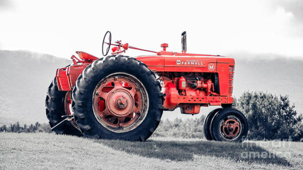 Farm Equipment Photograph - Vintage Mccormick Farmall Tractor by Edward Fielding