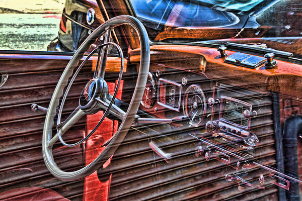 Photograph - Vintage Mercedes Interior by Val Black Russian Tourchin