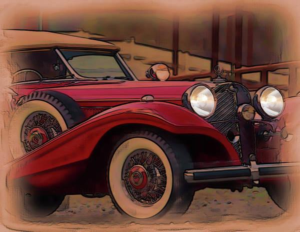 Digital Art - Vintage Mercedes by Tristan Armstrong