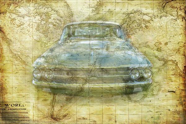 Digital Art - Vintage Mercury by Ramona Murdock