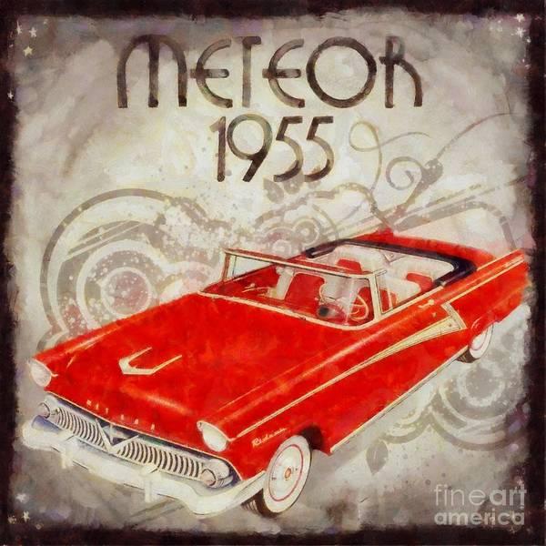 Maserati Painting - Vintage Meteor Pop Art by Sarah Kirk