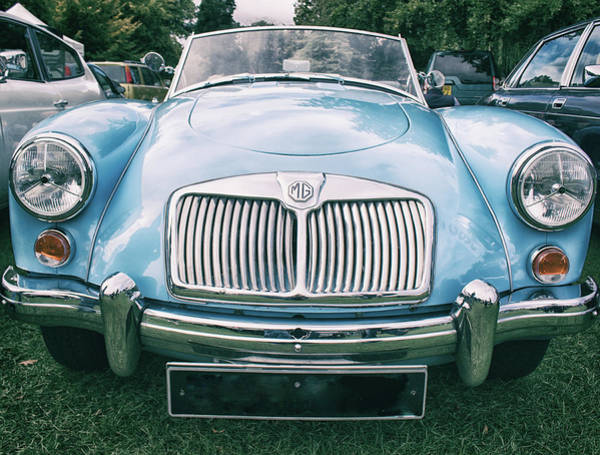 Auto Show Photograph - Vintage Mg by Martin Newman
