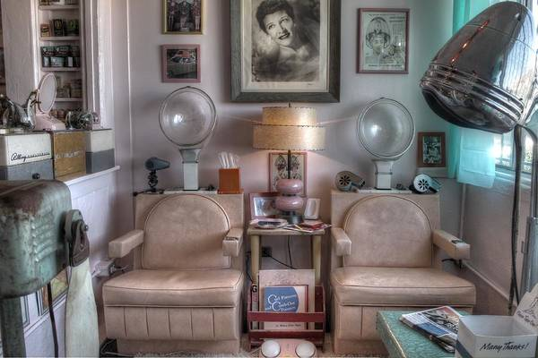 Wall Art - Photograph - Vintage Mid Century Modern Beauty Parlor Salon by Jane Linders
