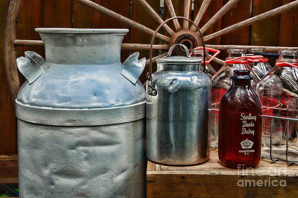 Milk Farm Restaurant Photograph - Vintage Milk by Paul Ward