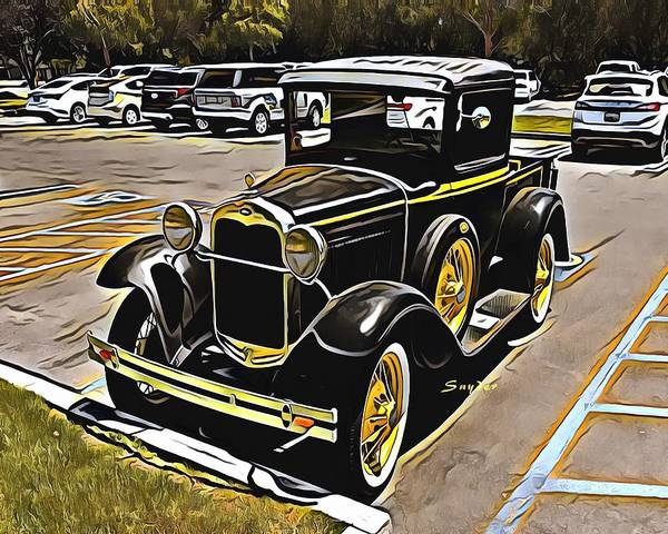 Photograph - Vintage Model A Ford Pick Up Truck by Floyd Snyder
