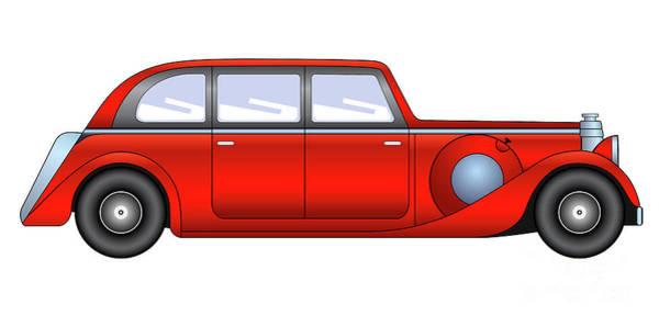 Digital Art - Vintage Model Of Car - Sedan by Michal Boubin
