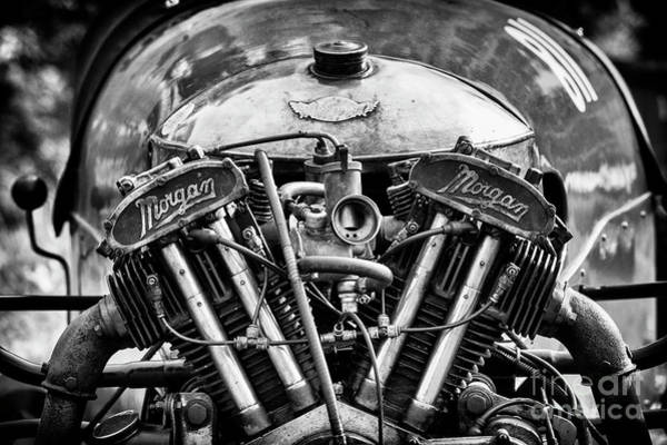 Photograph - Vintage Morgan Engine by Tim Gainey
