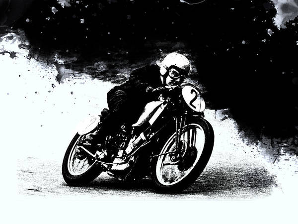 Wall Art - Photograph - Vintage Motorcycle Racer by Mark Rogan
