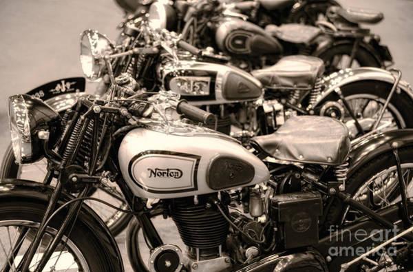 Vintage Motorcycles Art Print