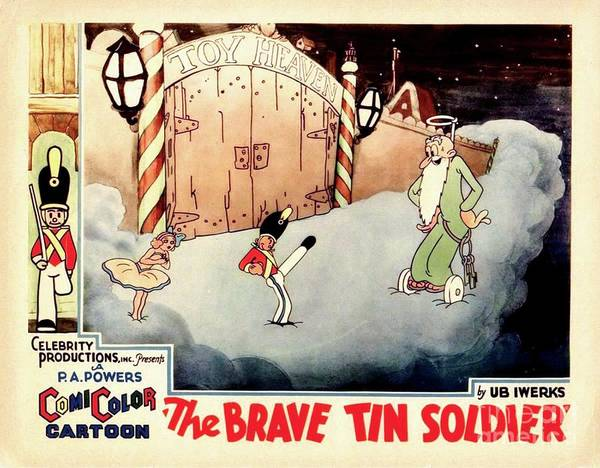 Braves Painting - Vintage Movie Lobby Card, The Brave Tin Soldier by Esoterica Art Agency