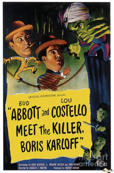 Dracula Painting - Vintage Movie Posters, Abbott And Costello Meet The Killer by Esoterica Art Agency