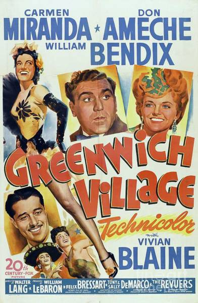 Carmen Wall Art - Painting - Vintage Movie Posters, Greenwich Village by Esoterica Art Agency