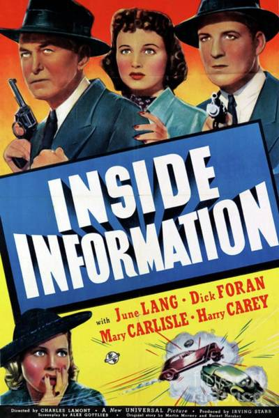 Inside Painting - Vintage Movie Posters, Inside Information by Esoterica Art Agency