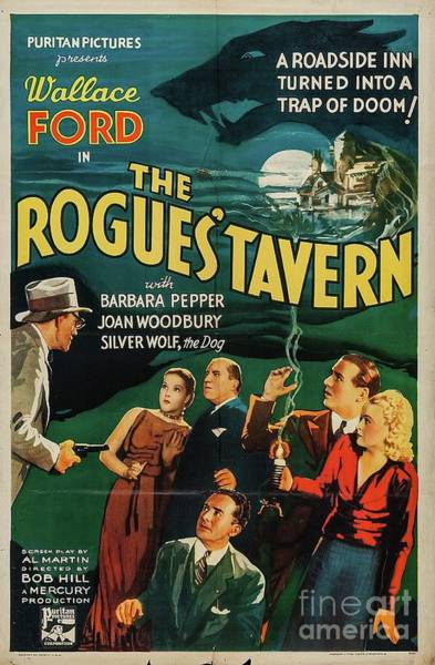 Tavern Painting - Vintage Movie Posters, The Rogue's Tavern by Esoterica Art Agency
