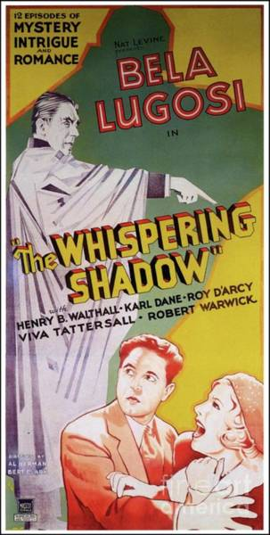 Wall Art - Painting - Vintage Movie Posters, The Whispering Shadow by Esoterica Art Agency