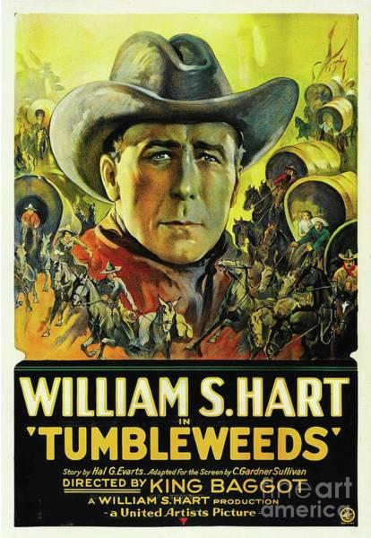 Hart Wall Art - Painting - Vintage Movie Posters, Tumbleweeds by Esoterica Art Agency