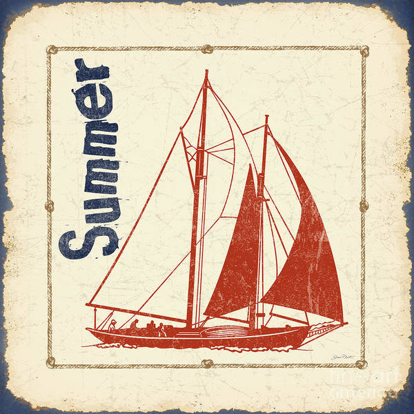 Summer Painting - Vintage Nautical-jp2752 by Jean Plout