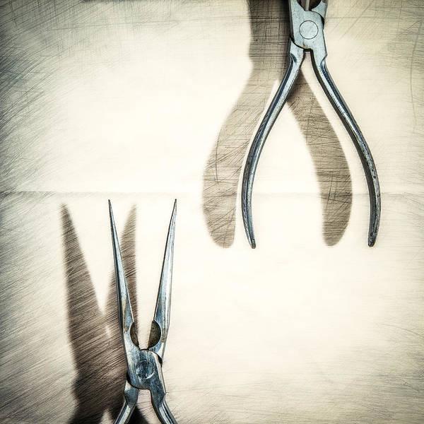 Blades Photograph - Vintage Needle Nose Pliers by Yo Pedro