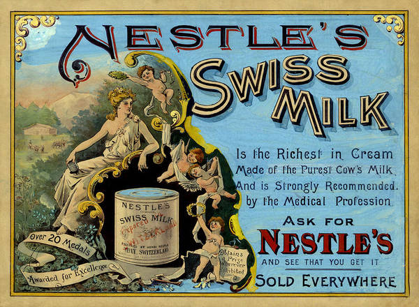 Photograph - Vintage Nestles Ad 1875 by Andrew Fare