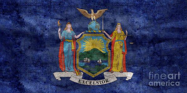 New York Stock Exchange Wall Art - Photograph - Vintage New York Flag by Jon Neidert