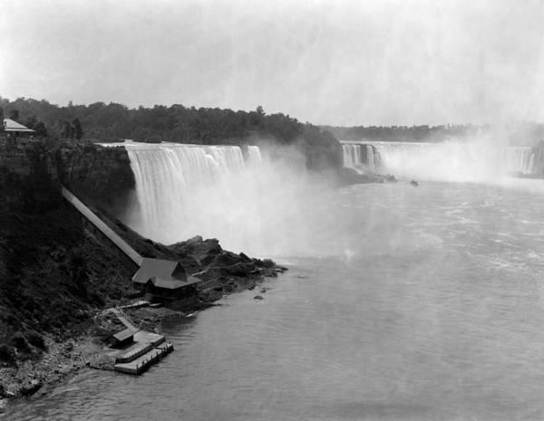 Niagara Falls Photograph - Vintage Niagara Falls - 1890 by War Is Hell Store