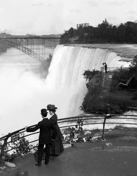 Niagara Falls Photograph - Vintage Niagara Falls - View From Goat Island - 1908 by War Is Hell Store
