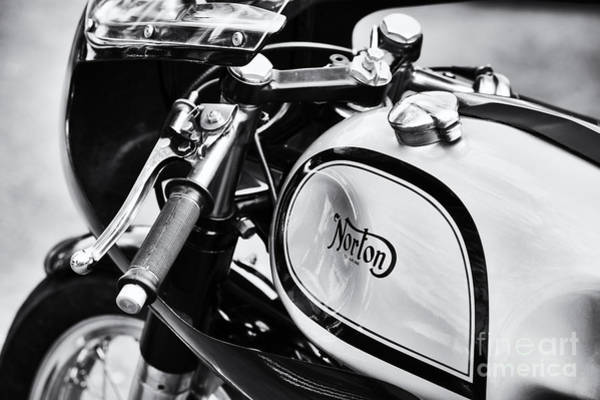 Photograph - Vintage Norton Cafe Racer by Tim Gainey