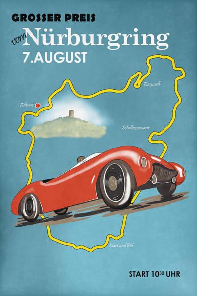 Wall Art - Photograph - Vintage Nurburgring Motor Racing by Mark Rogan