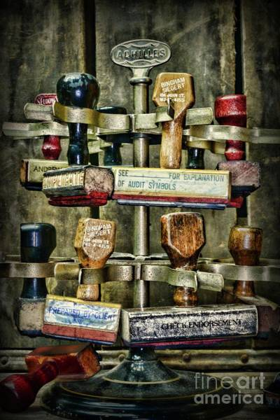 Bookkeeper Photograph - Vintage Office Supplies by Paul Ward