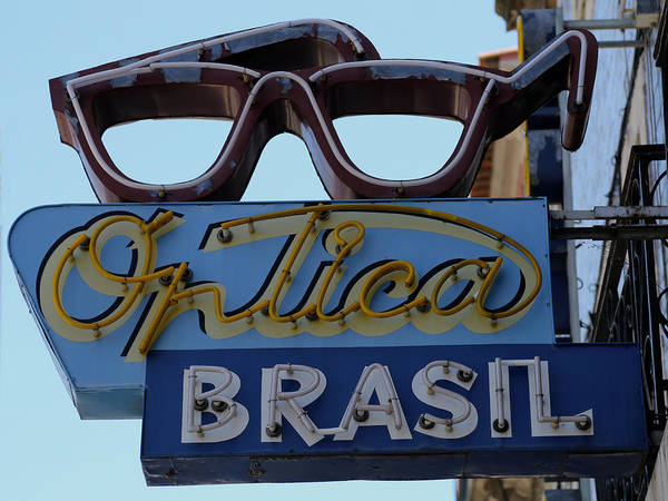 Photograph - Vintage Optician Sign by Andrew Fare