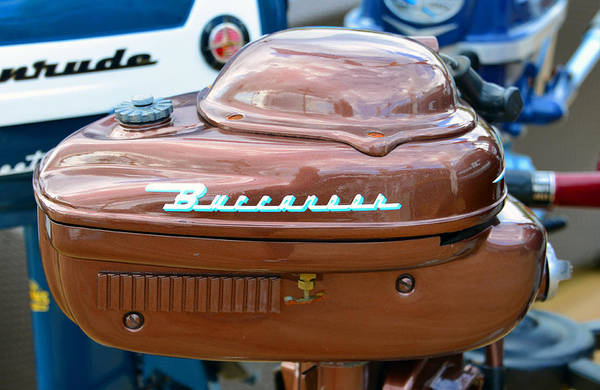 Outboard Photograph - Vintage Buccaner Outboard  by David Lee Thompson