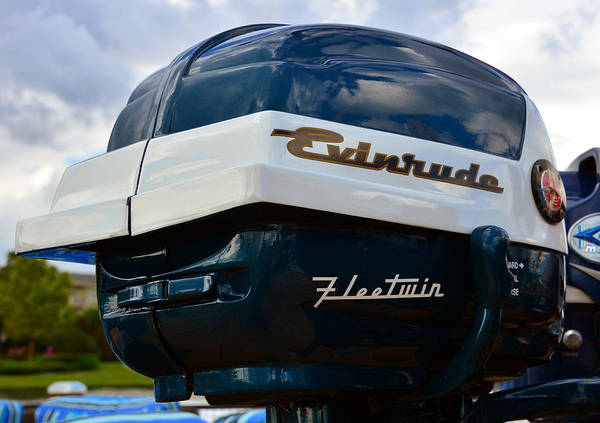 Outboard Engine Photograph - Vintage Evenrude Outboard  by David Lee Thompson