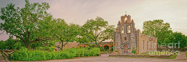 Wall Art - Photograph - Vintage Panorama Of Mission Espada San Antonio Missions - Bexar County Texas by Silvio Ligutti