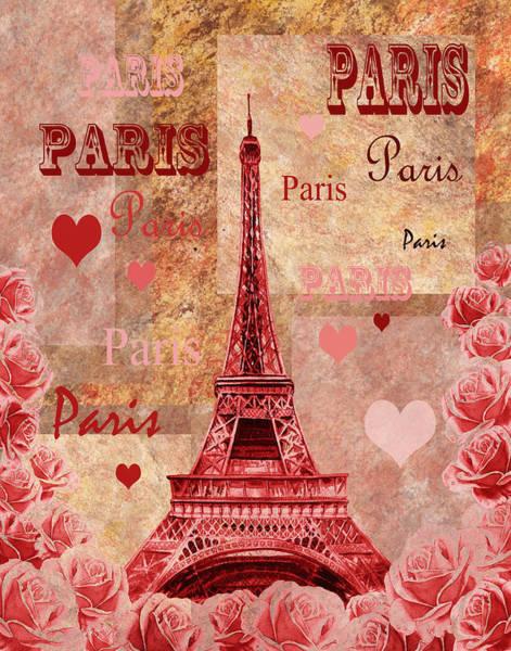 Painting - Vintage Paris And Roses by Irina Sztukowski