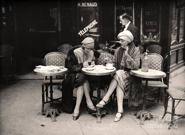 Wall Art - Painting - Vintage Paris Cafe by Mindy Sommers