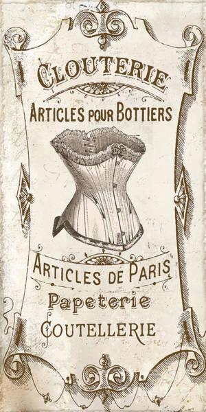 Corset Painting - Vintage Paris Corsette Sign by Mindy Sommers