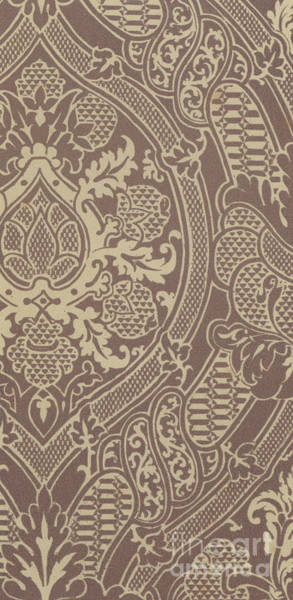 Wall Art - Tapestry - Textile - Vintage Pattern  Damask, Silk And Linen, Florentine, 16th Century by Italian School