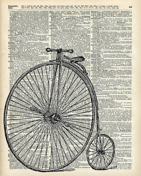 Bike Digital Art - Vintage Penny Farthing Bicycle by Anna W