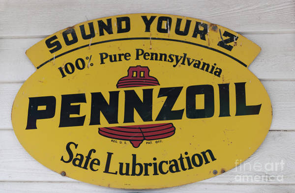 Photograph - Vintage Penzoil Metal Sign by Dale Powell