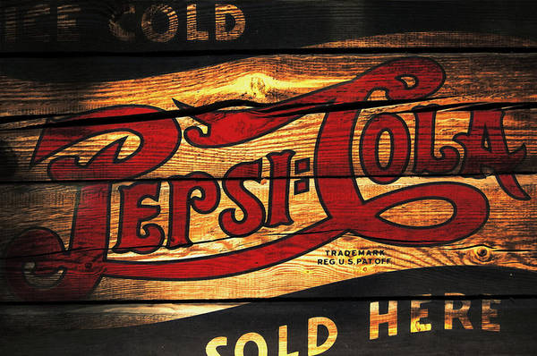 Soda Pop Mixed Media - Vintage Pepsi-cola Sign 1a by Brian Reaves