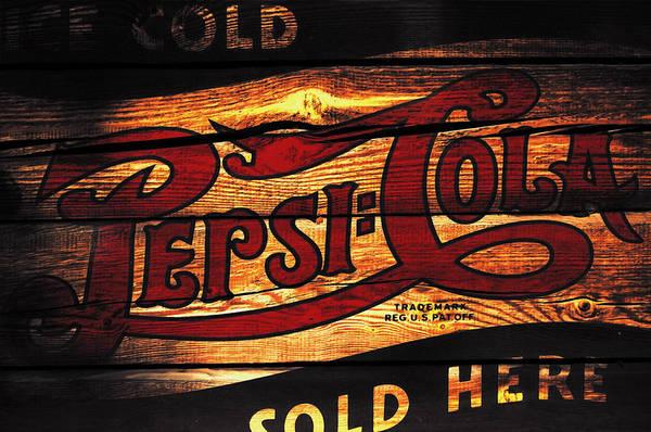 Soda Pop Mixed Media - Vintage Pepsi-cola Sign 1b by Brian Reaves