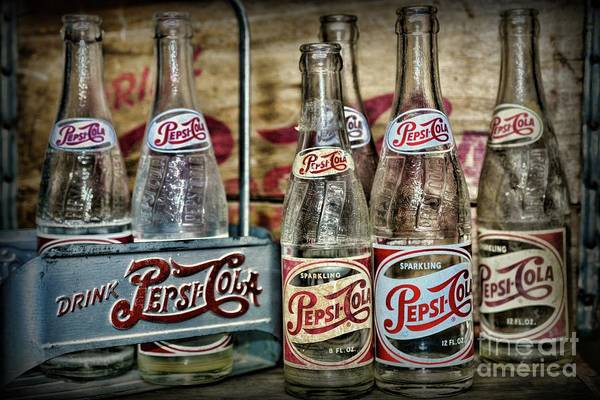 Wall Art - Photograph - Vintage Pepsi Metal Carrier by Paul Ward