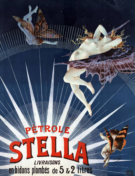 Beam Painting - Vintage Petrole Stella Poster by Henri Boulanger